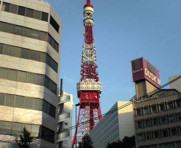 飯倉から見た東京タワー